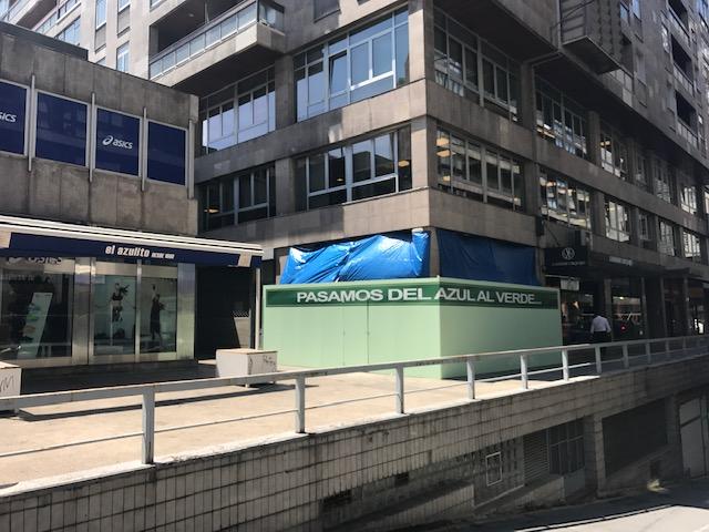 Imágen de la fachada del GildaToki en obras
